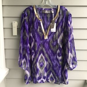 CHICO'S TRAVELERS Trudy Embellished Blouse XL (3)